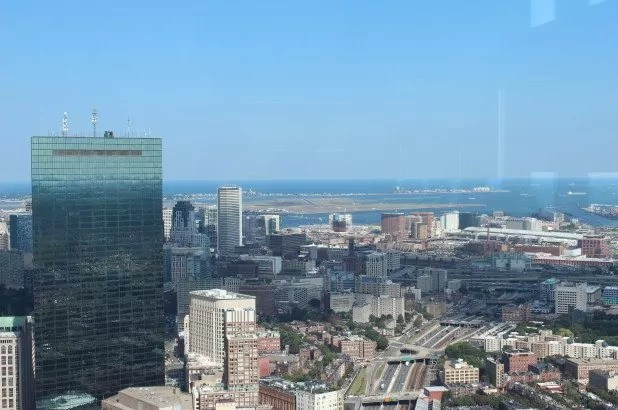 View of Boston from the Top of the Hub