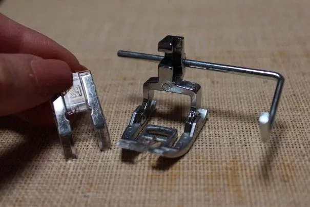 Dual Feed/Even Feed Foot with Quilt Bar, Satin Stitch Foot