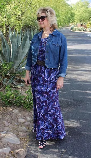 Self-Drafted Maxi Skirt in Jewel Tones