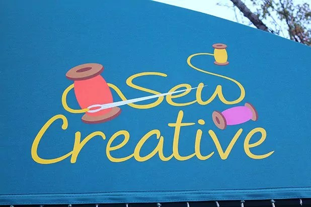 Sew Creative store sign, Ashland,Oregon