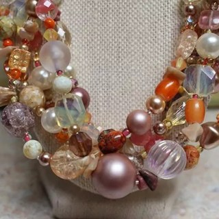 Mixed Bead Multi Strand Necklace