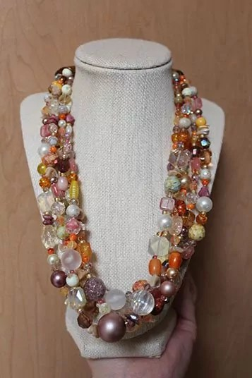 21 Inch 5 Strand Necklace