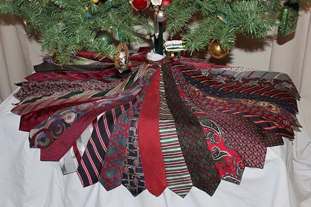 Family Ties turned into a Christmas Tree Skirt