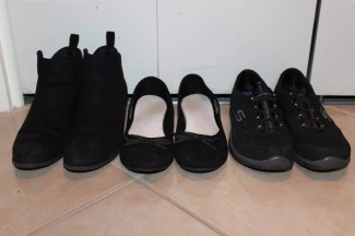 Black Suede Booties, Ballerina Flats, Sketchers
