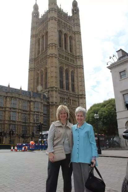 Enjoying London with Mom