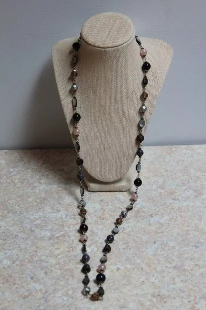 40 inch assorted bead necklace