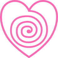 Heart Hypnotic Swirl Pink