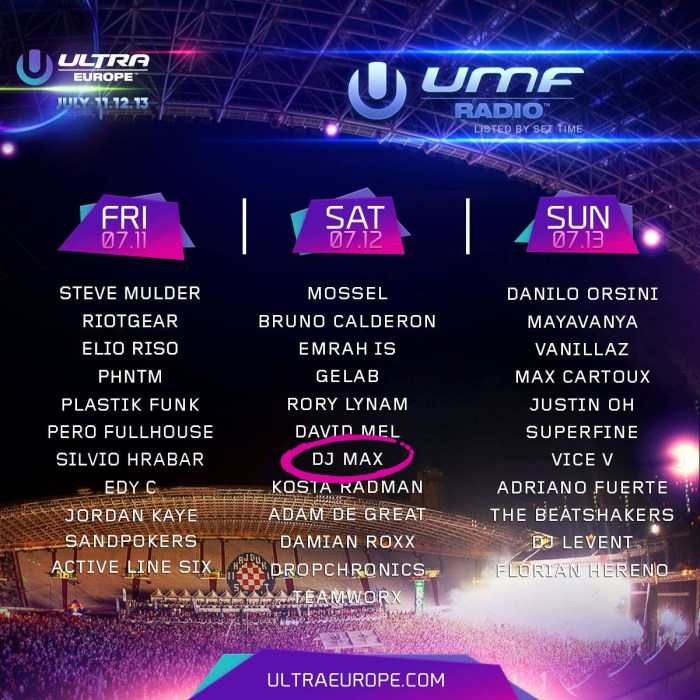 Ultra Europe UMF Radio Stage