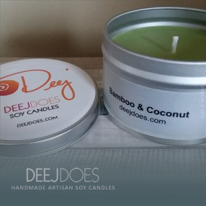 Bamboo & Coconut Soy Candle by DEEJ DOES