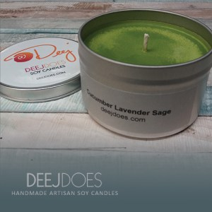 Cucumber Lavender Sage Soy Candle by DEEJ DOES