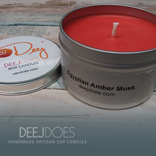 Egyptian Amber Musk Soy Candle by DEEJ DOES