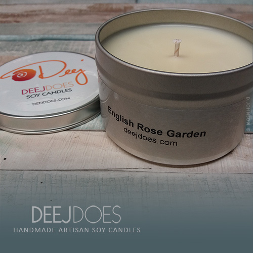 English Rose Garden Soy Candle by DEEJ DOES