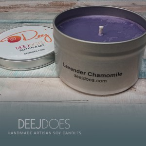 Lavender Chamomile Soy Candle by DEEJ DOES