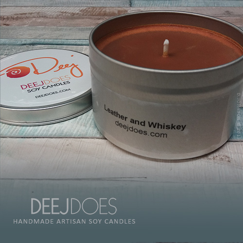 Leather and Whiskey Soy Candle by DEEJ DOES