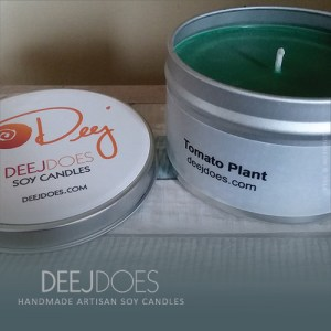Tomato Plant Soy Candle by DEEJ DOES