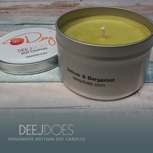 Vetiver & Bergamot Soy Candle by DEEJ DOES
