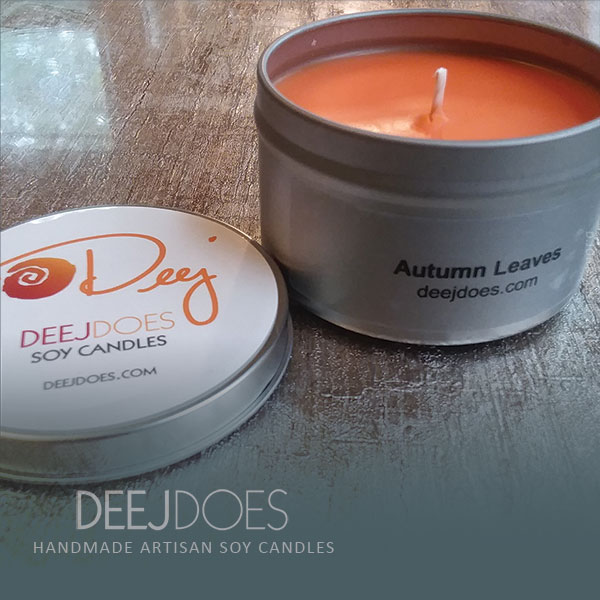Autumn Leaves Soy Candle by DEEJ DOES