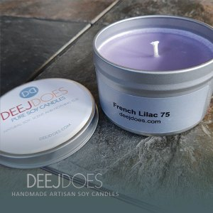 French Lilac 75 Soy Candle by DEEJ DOES