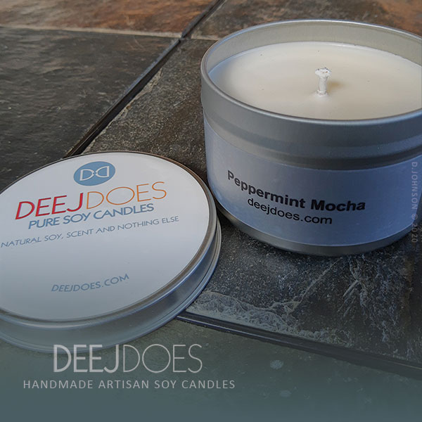Peppermint Mocha Soy Candle by DEEJ DOES
