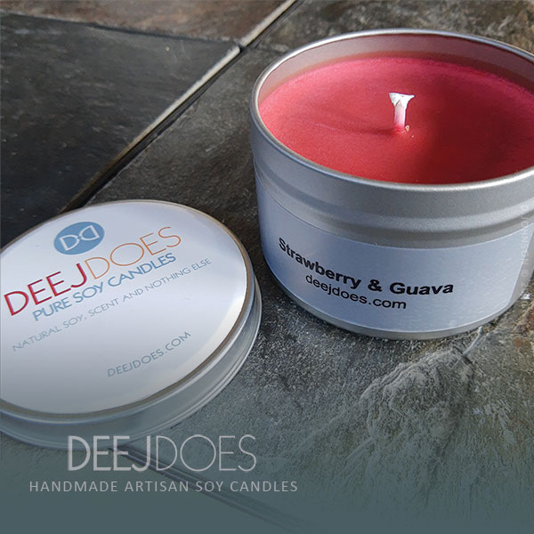 Strawberry & Guava Soy Candle by DEEJ DOES