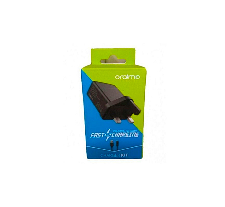 Oraimo 3 Pin Charger Black