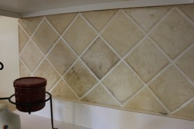 faux backsplash