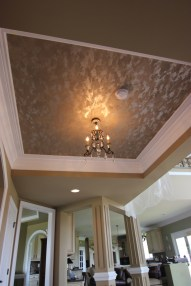 faux metallic plaster