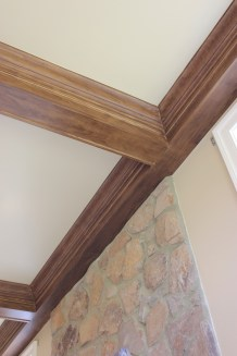 Faux Walnut Beams