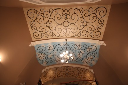 Foyer Ceiling with Faux Iron Mural