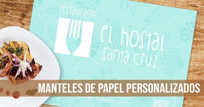 mantel individual papel - Restaurante Hostal Santa Cruz
