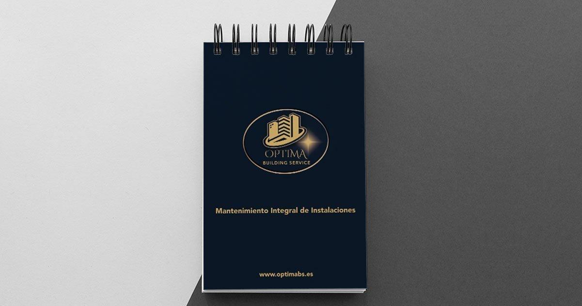 Diseño libreta personalizada Optima