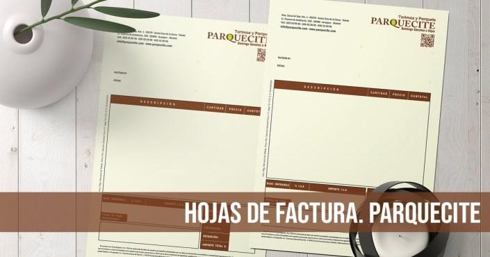 Parquecite Hojas de Factura