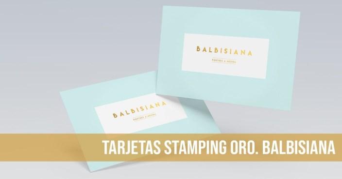 Stamping oro Balbisiana