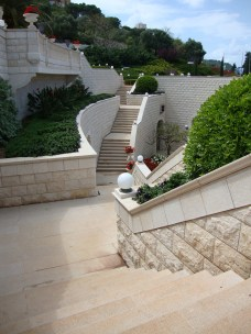 Non-Baha'is are only allowed to go down the stairs, not up.