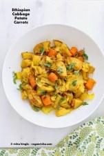Ethiopian Cabbage, Potato & Carrot Stew