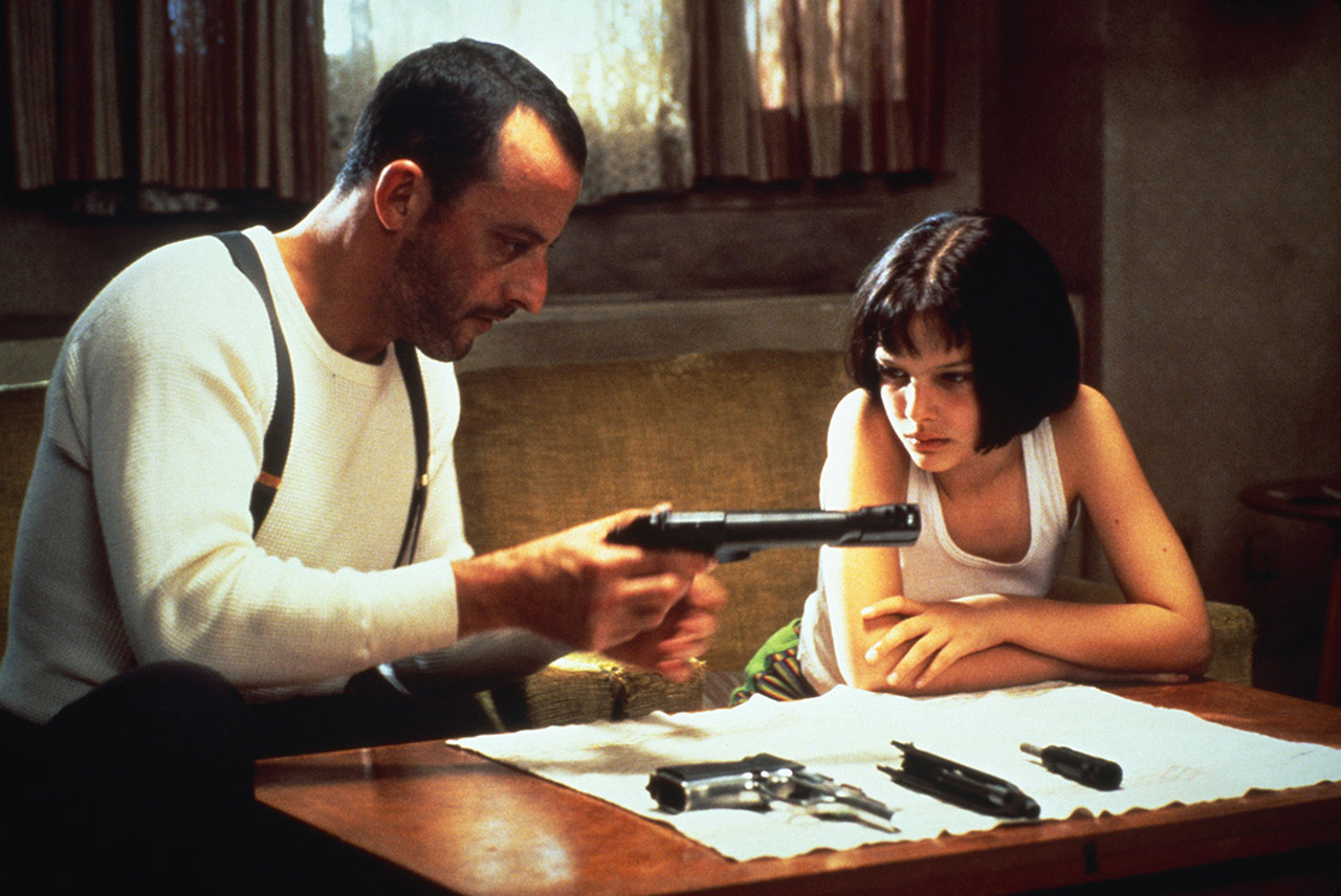 Jean Reno and Natalie Portman in Leon