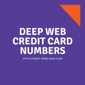 deep web credit card numbers