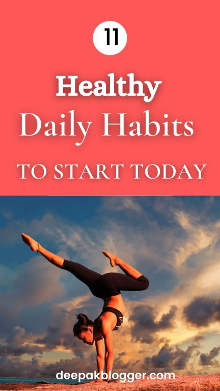 Healthy Daily Habits to Start Today