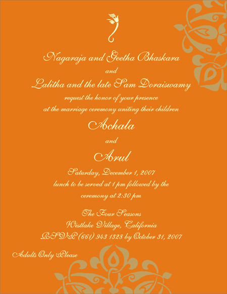 Indian Wedding Invitation Funny Wordings Wedding Invitation Sample