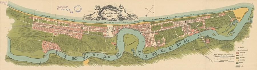 map of Jurmala