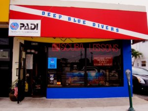 deep blue divers shop