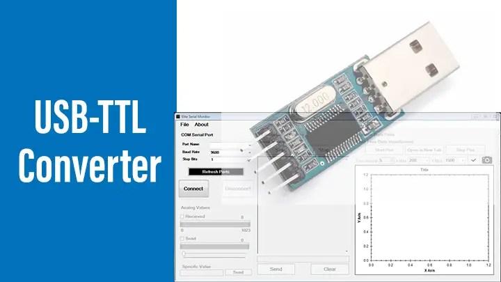 USB to UART TTL Adapter with XON XOFF flow control