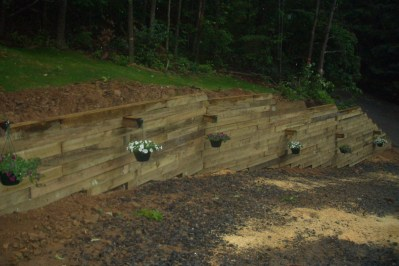 retaining wall, Country Club Acres