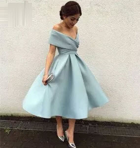 Ball Gown Short Off Shoulder Homecoming Dresses