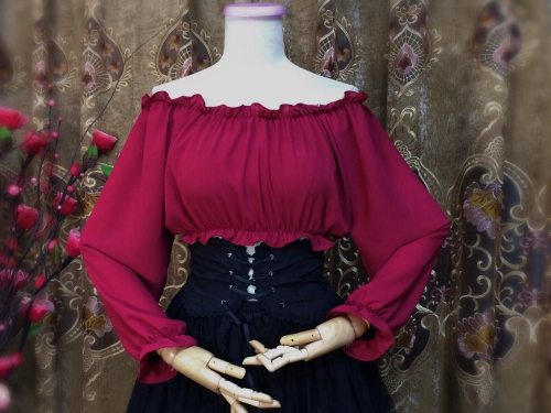 Gothic Victorian Style Women Dress Tops