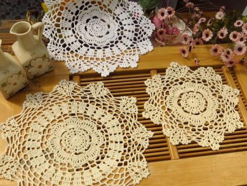 Lace Cotton Crochet Hot Pads