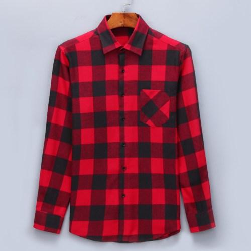 Flannel Long Sleeve Plaid Shirt