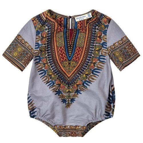 Kids Dashiki Print Clothes