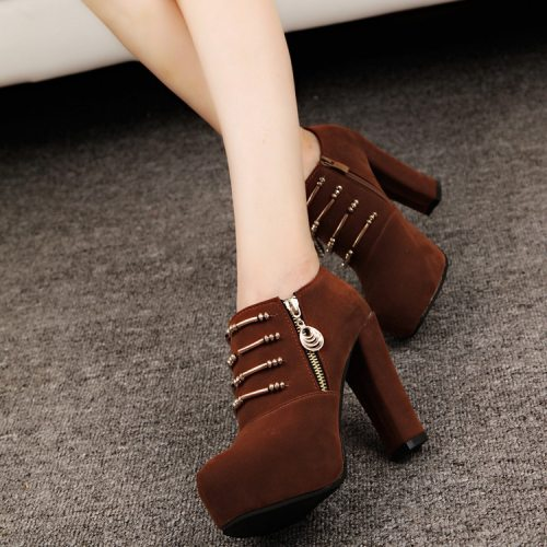 High Heel Ankle Dress Boots