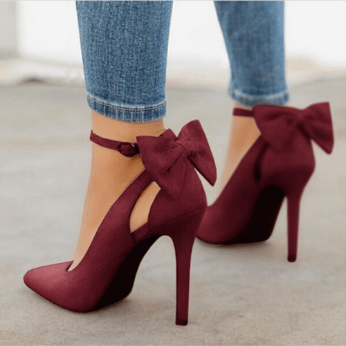 Sexy Bow Pumps Stiletto Heels